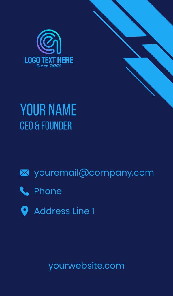 Digital Program Letter E Business Card