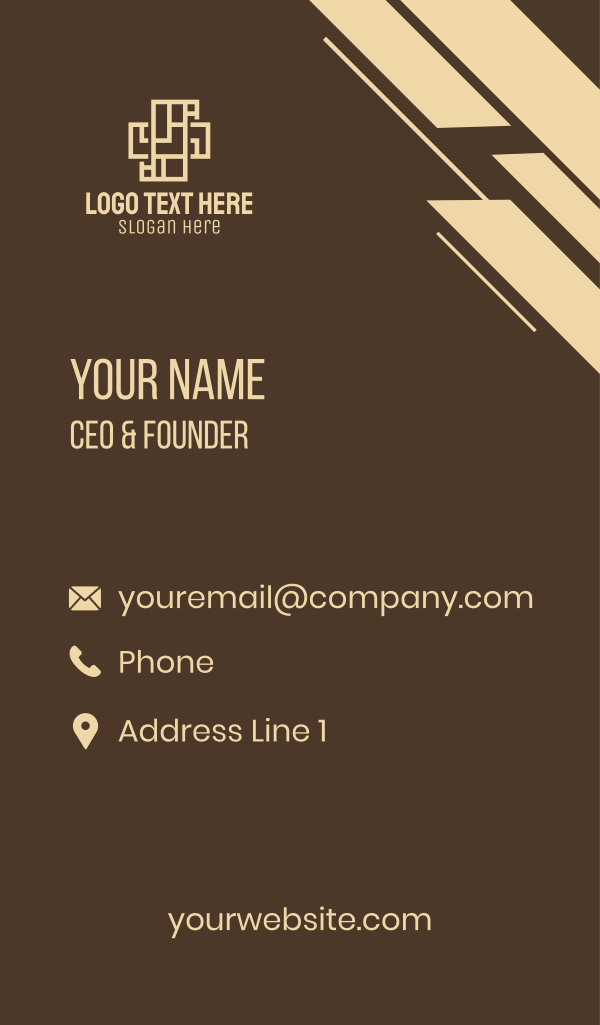 Architecture Cross Business Card