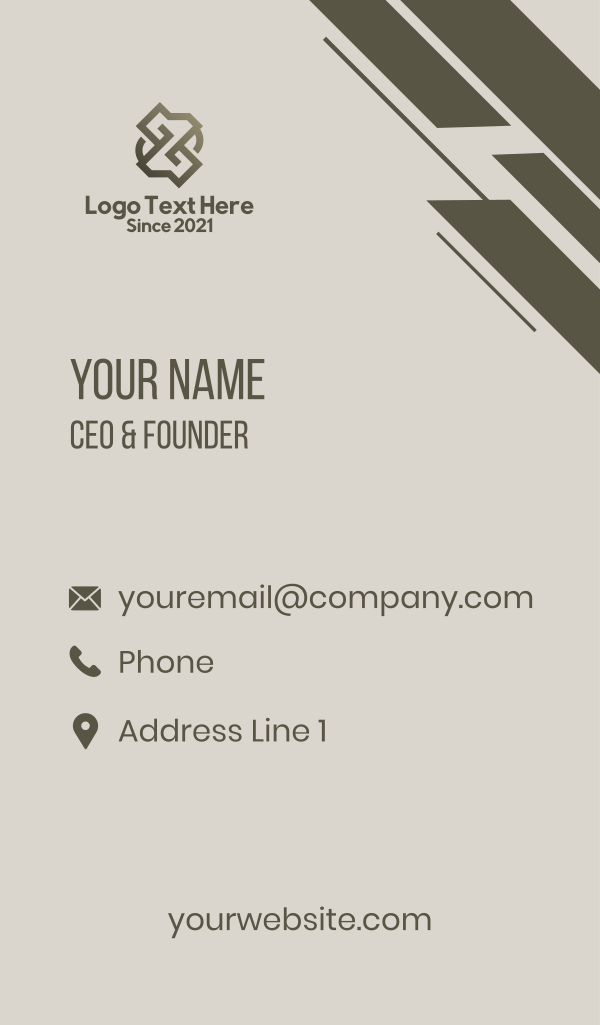 Letter Z Architecture Business Card