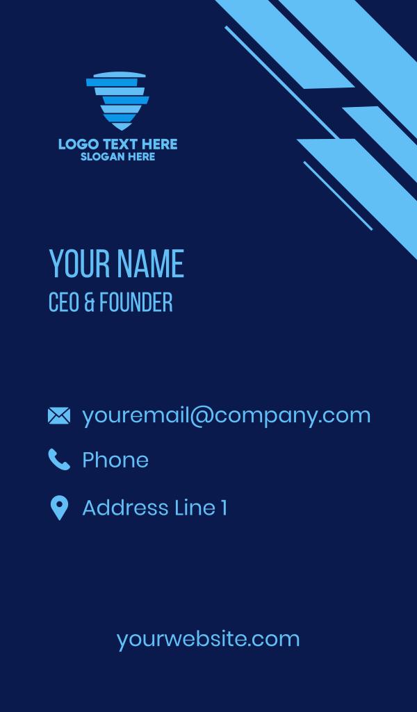 Blue Data Shield Business Card
