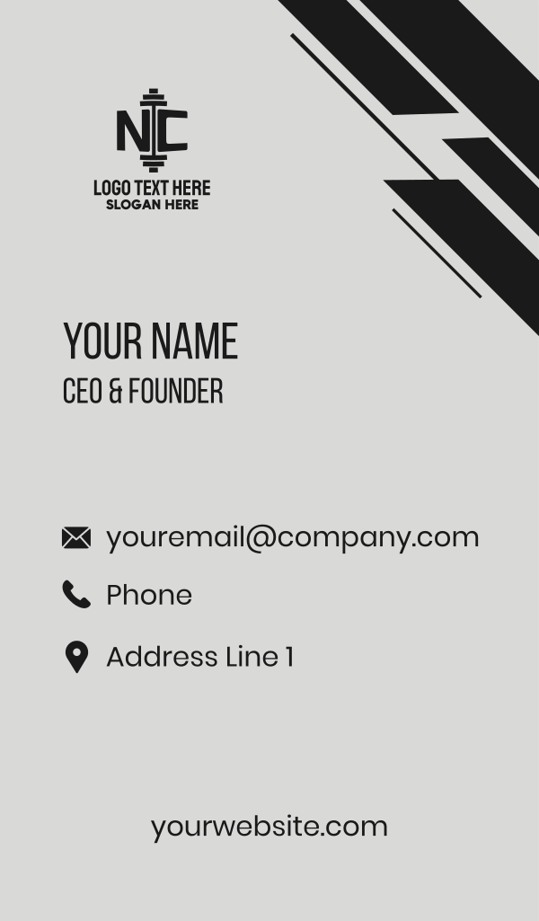Barbell N & C Business Card