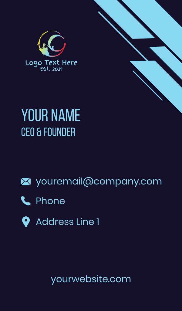Art Splatter Letter C Business Card