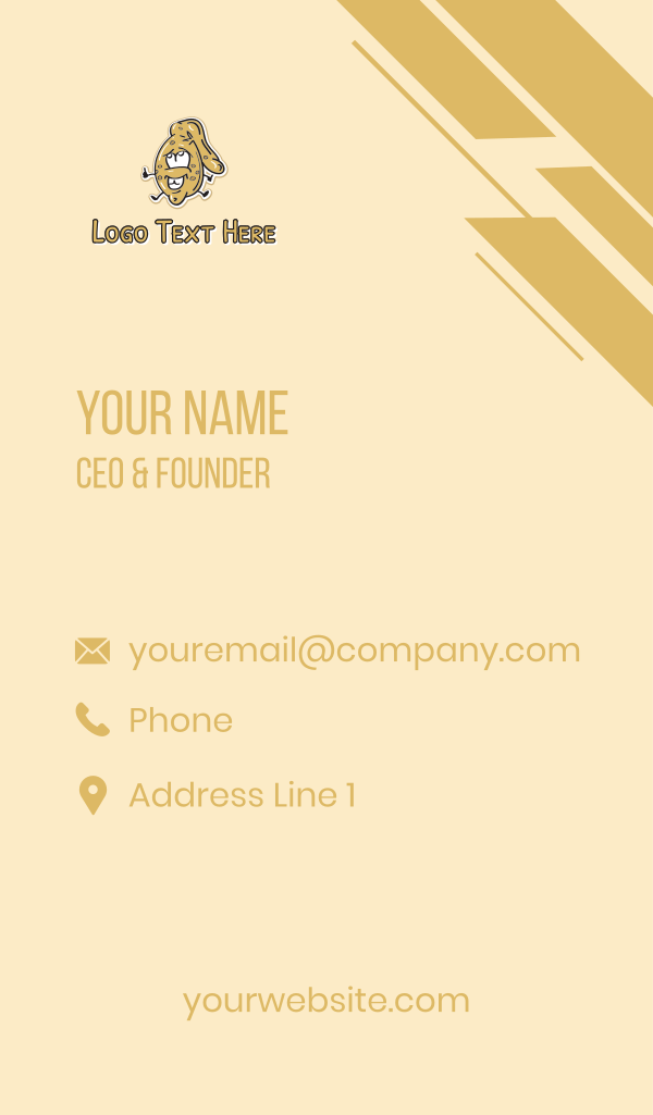Happy Cookie Mascot Business Card