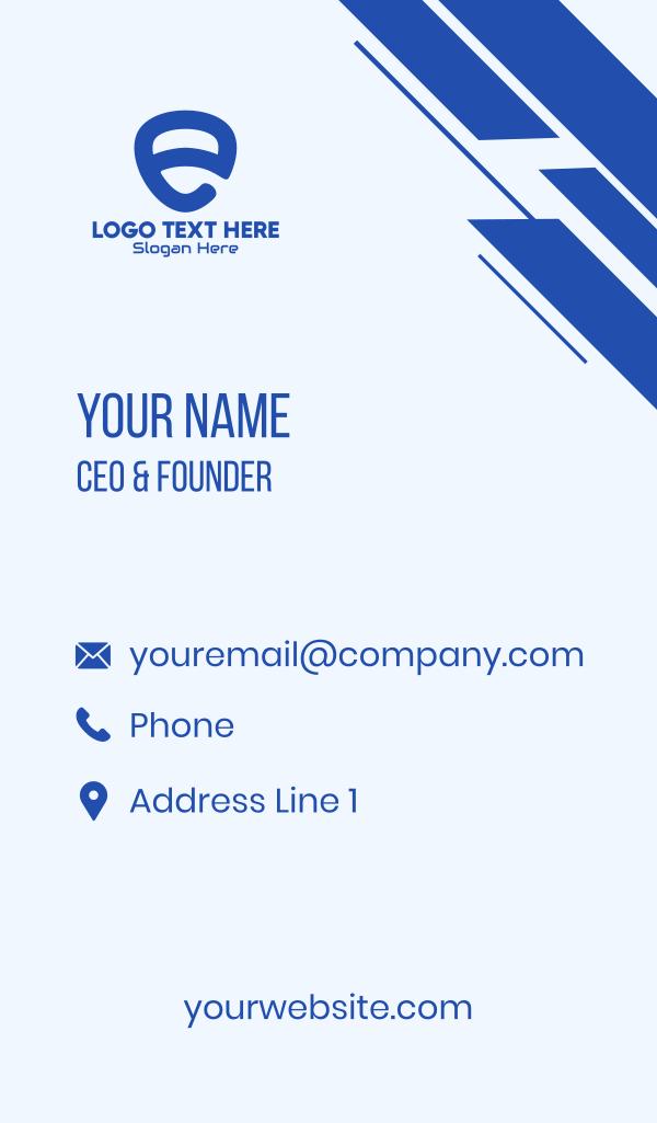Blue Security Shield Letter E Business Card