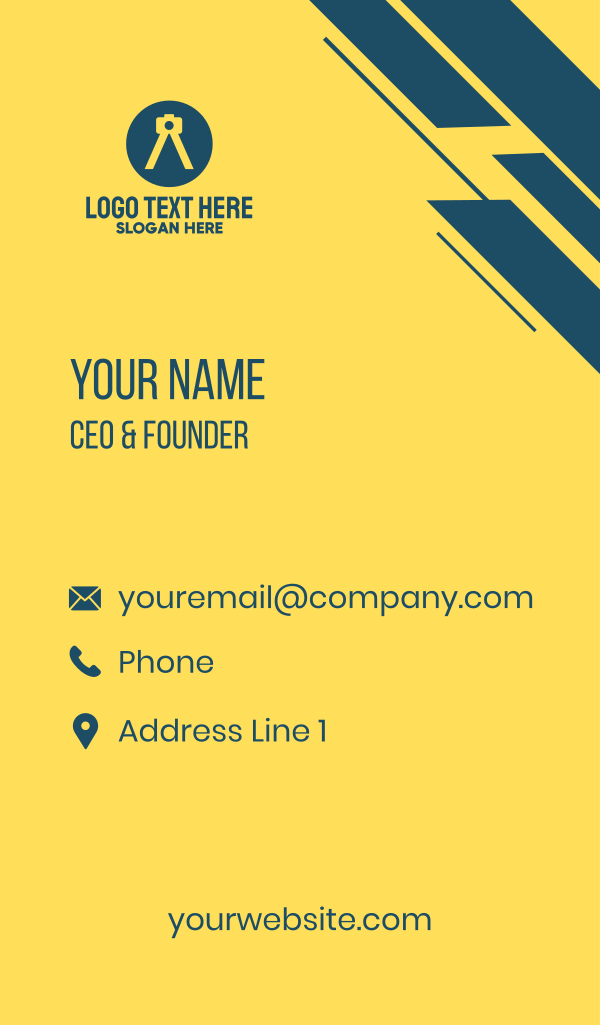 Photography Letter A Business Card