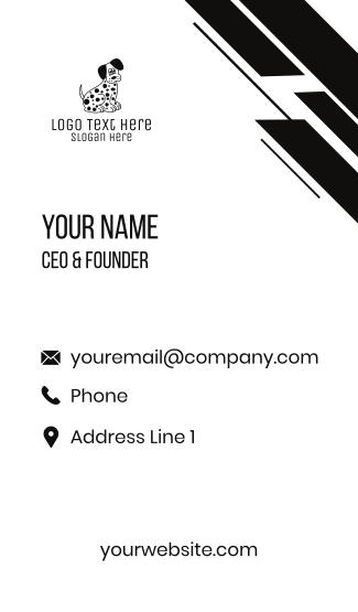 Dalmatian Cartoon Business Card