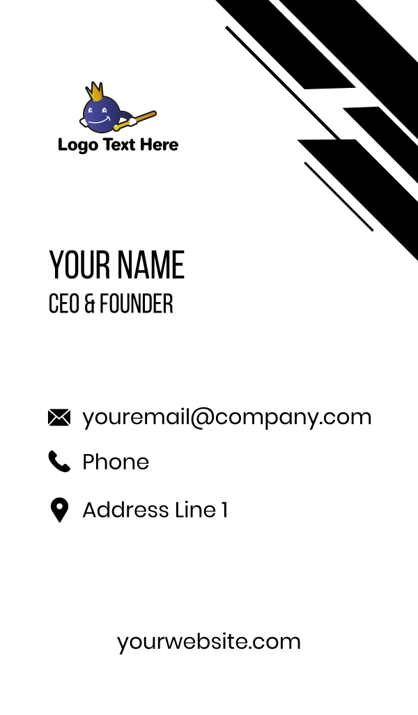 Ball King Business Card
