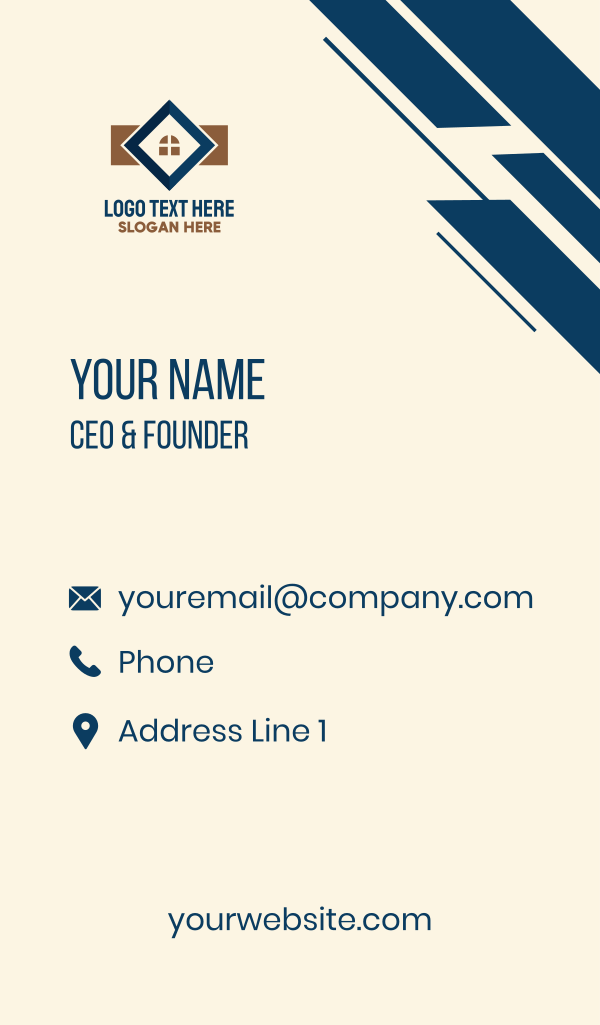 Modern Realty Property Business Card