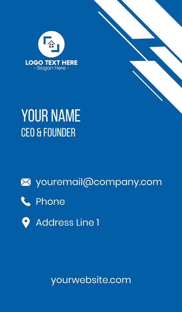 Realty Home Property Business Card