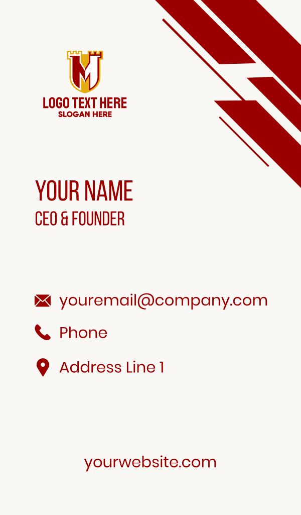 Castle Shield Letter M Business Card