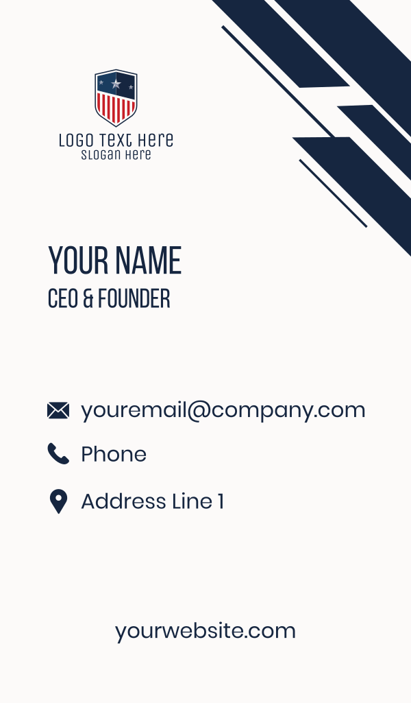 Patriotic Crest Business Card