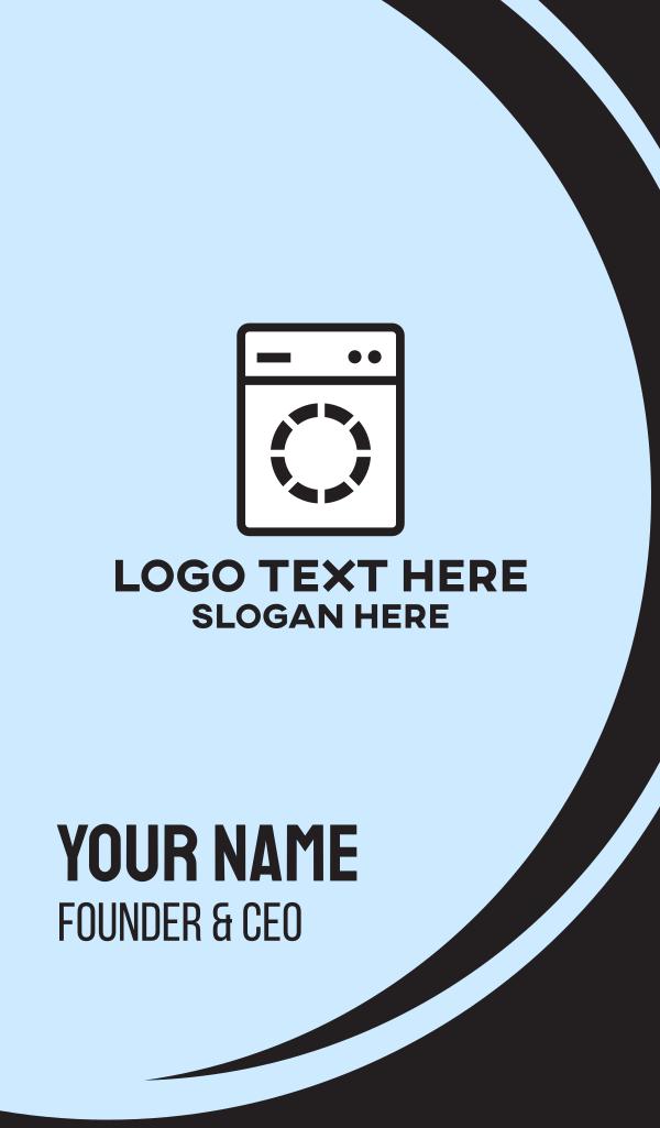 Laundromat Washing Machine Business Card