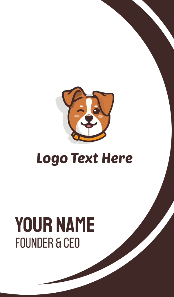 Cute Dog Business Card