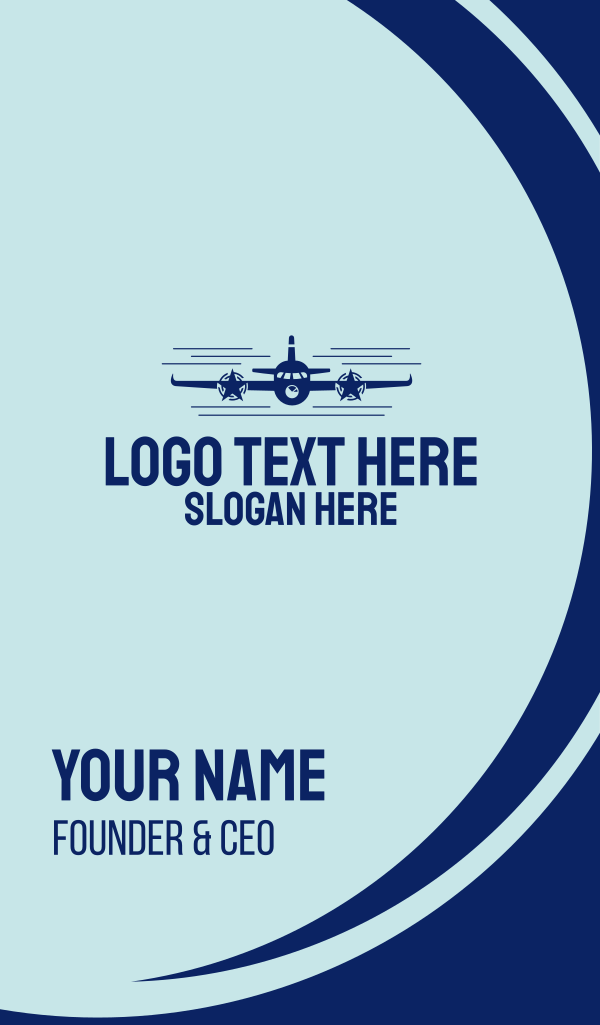 Fly Star Airline Business Card