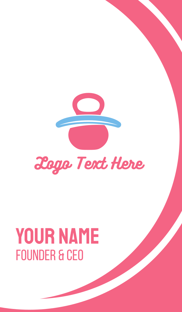 Pink Baby Pacifier Business Card