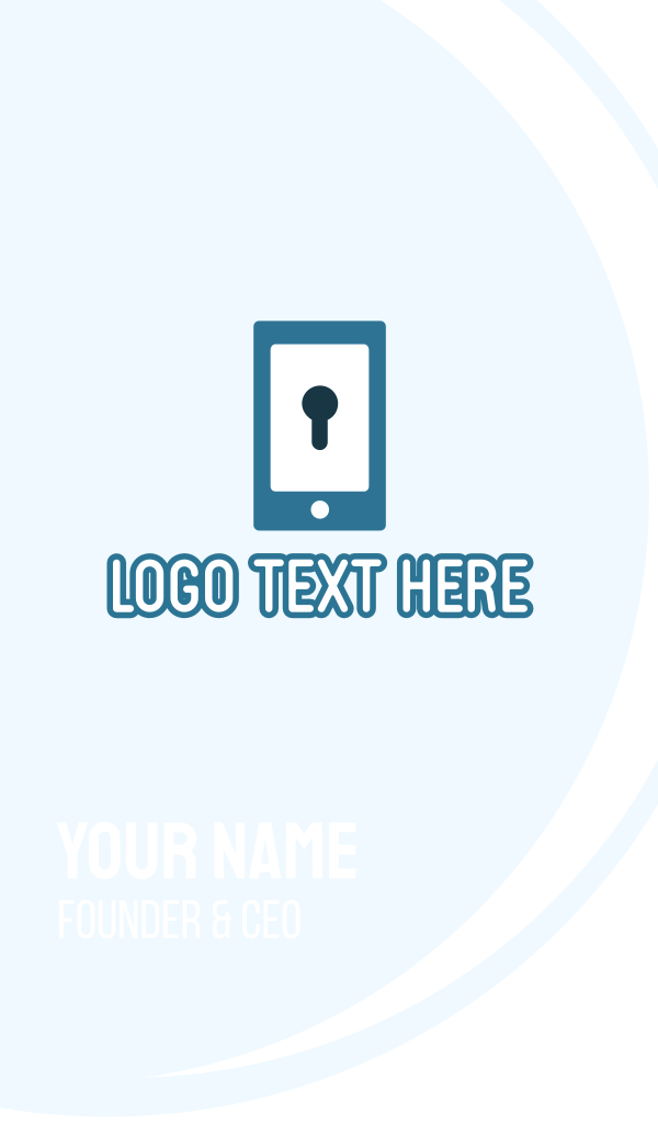 Phone Security Application Business Card