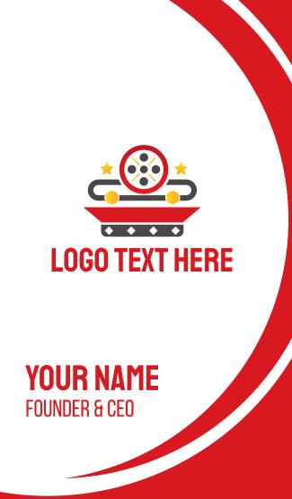 Movie Reel App Business Card
