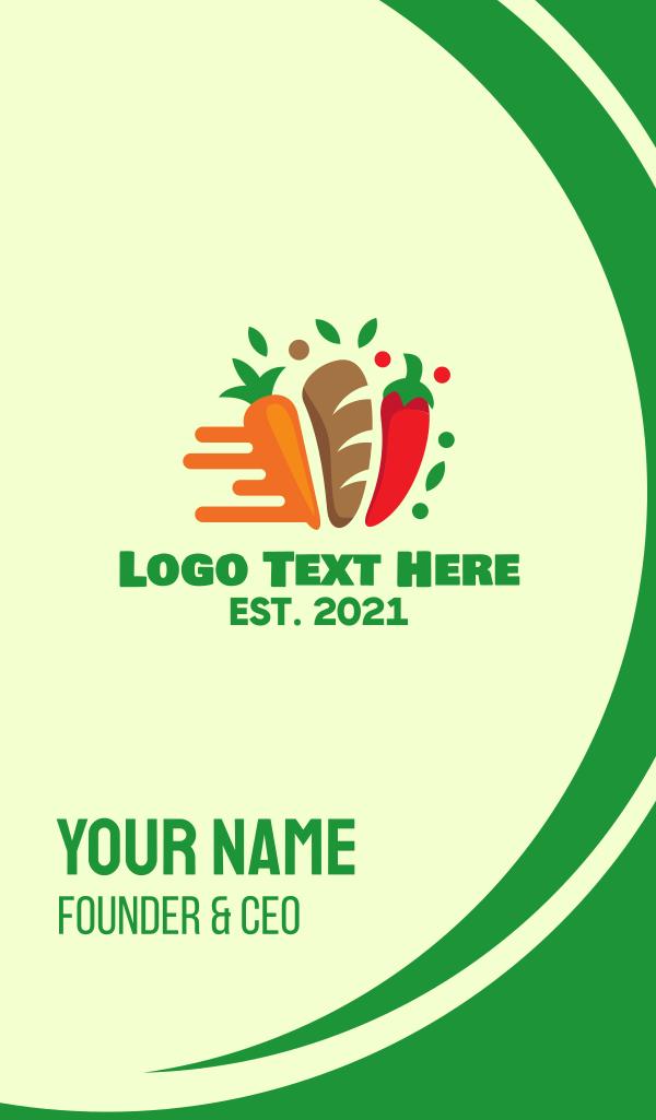 Bread & Vegetables Restaurant Business Card