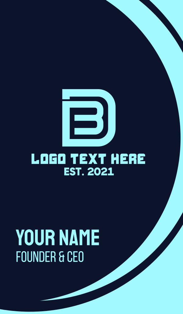 Gaming Monogram B & D Business Card