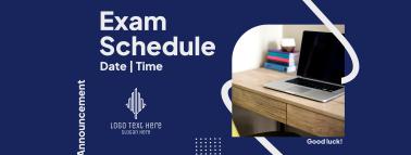 Announcement Exam Schedule Facebook cover