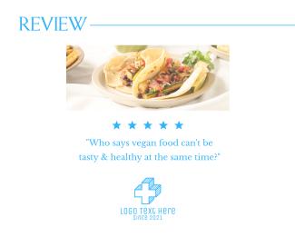Vegan Food Review Facebook post