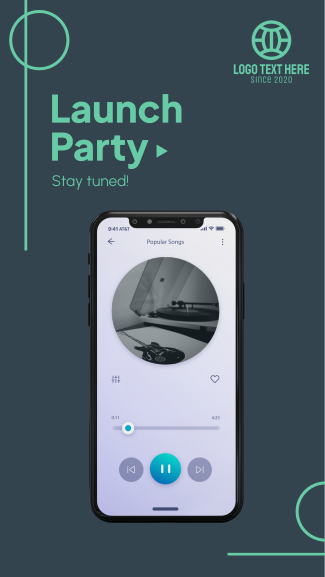 New Song Launch Party Facebook story