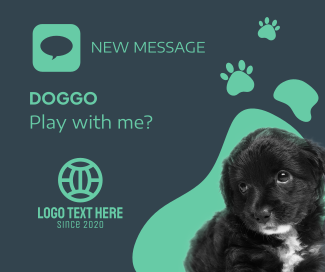 Dog New Message Facebook post