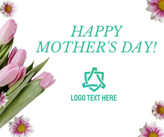 Tulips & Daisies Mother's Day Facebook post