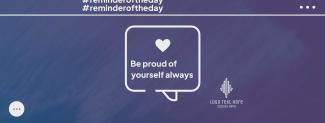 Be Proud Of Yourself Facebook cover