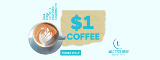 $1 Coffee Cup Facebook cover