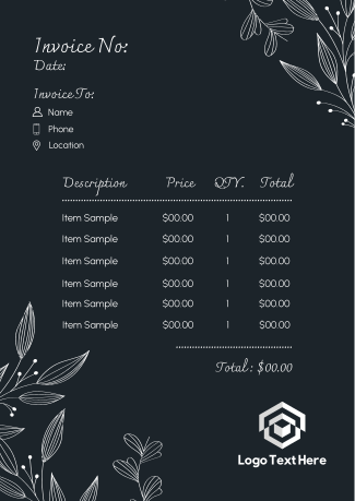Floral Ornaments Invoice