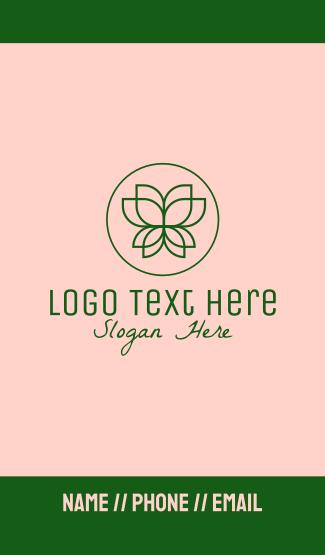 Spa Lotus Flower Business Card