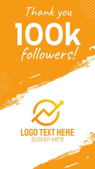 100k Followers Facebook story