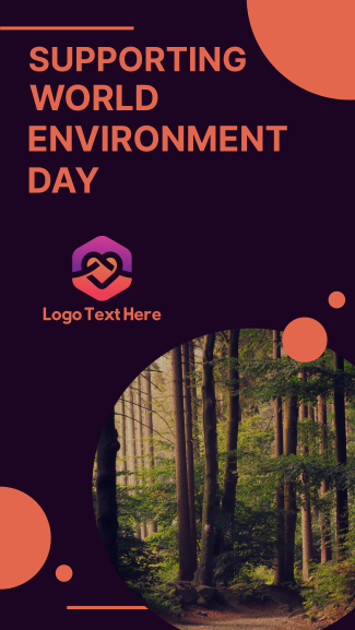 Supporting World Environment Day Facebook story