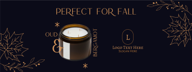 Fall Scented Candle Facebook cover