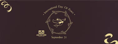 Peace Day Dove Banner Facebook cover