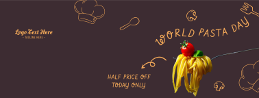 World Pasta Day Doodle Facebook cover