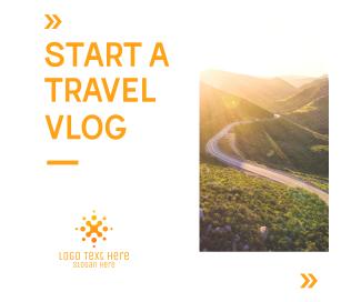Travel Vlog Facebook post