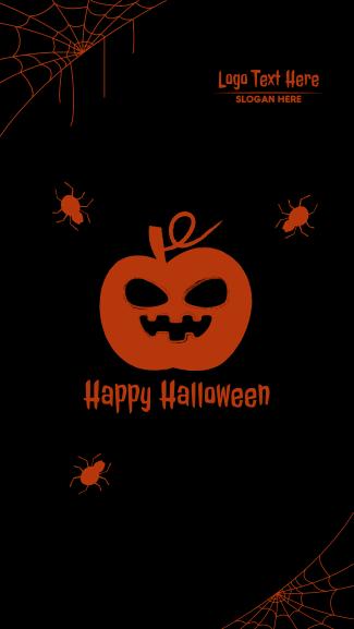 Halloween Scary Pumpkin Facebook story