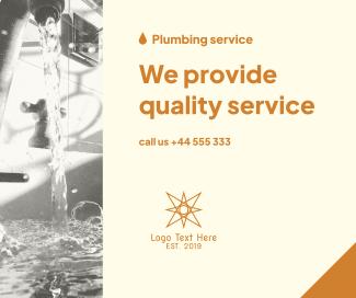Plumbing Service Provider Facebook post