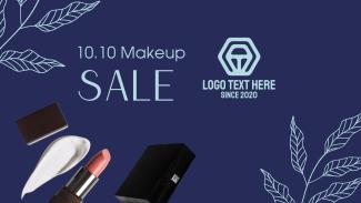 10.10 Makeup Sale  Facebook event cover