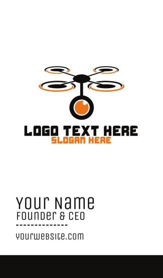 Camera Lens Drone Business Card