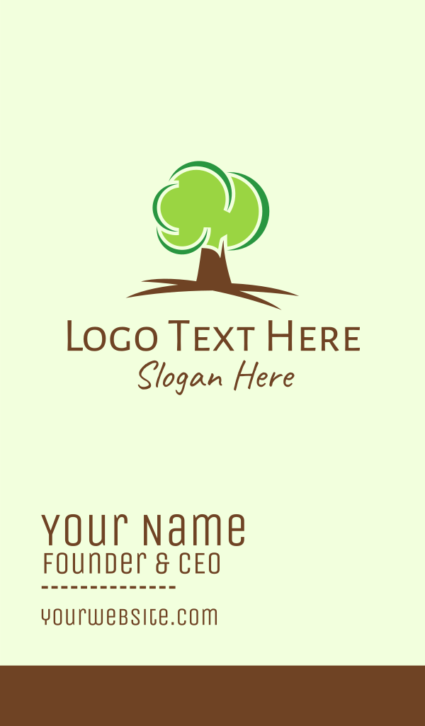Green Eco Tree Business Card