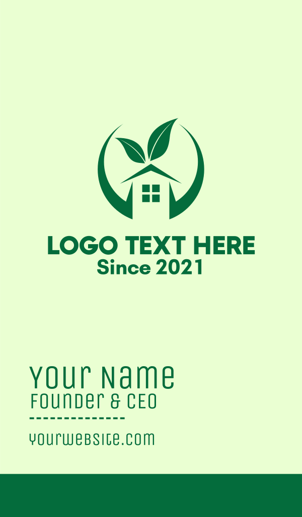 Green Eco Real Estate Business Card