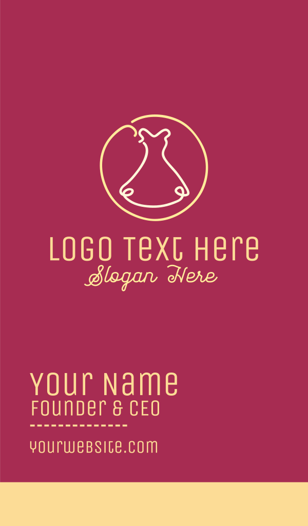 Fashion Dress Business Card
