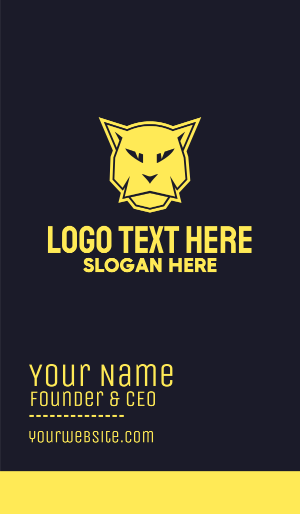 Animal Mascot Business Card