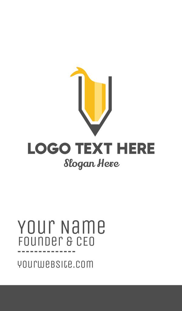Yellow Pencil Splash Business Card
