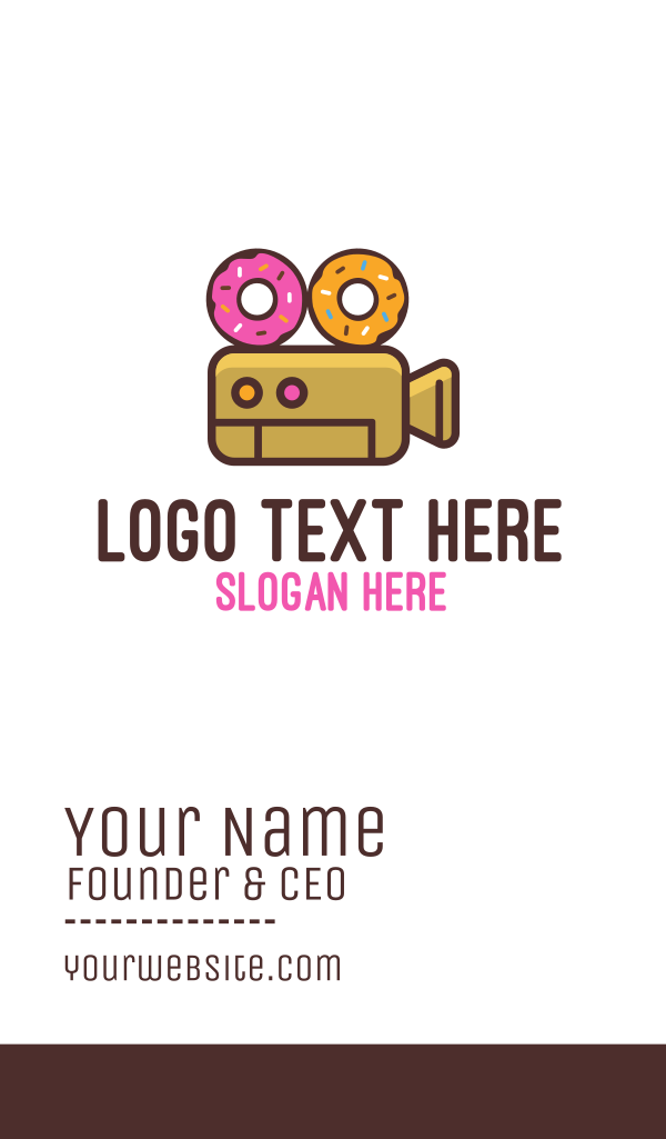 Donuts & Movies Business Card