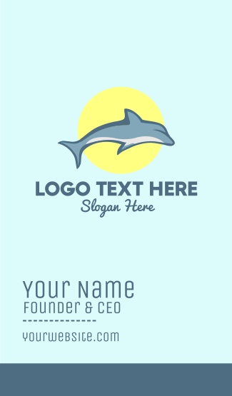 Dolphin Sun Business Card
