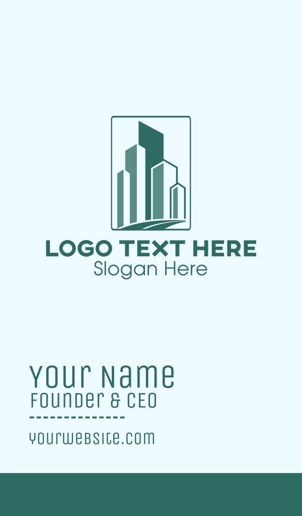 Geometric Buildings Road Business Card
